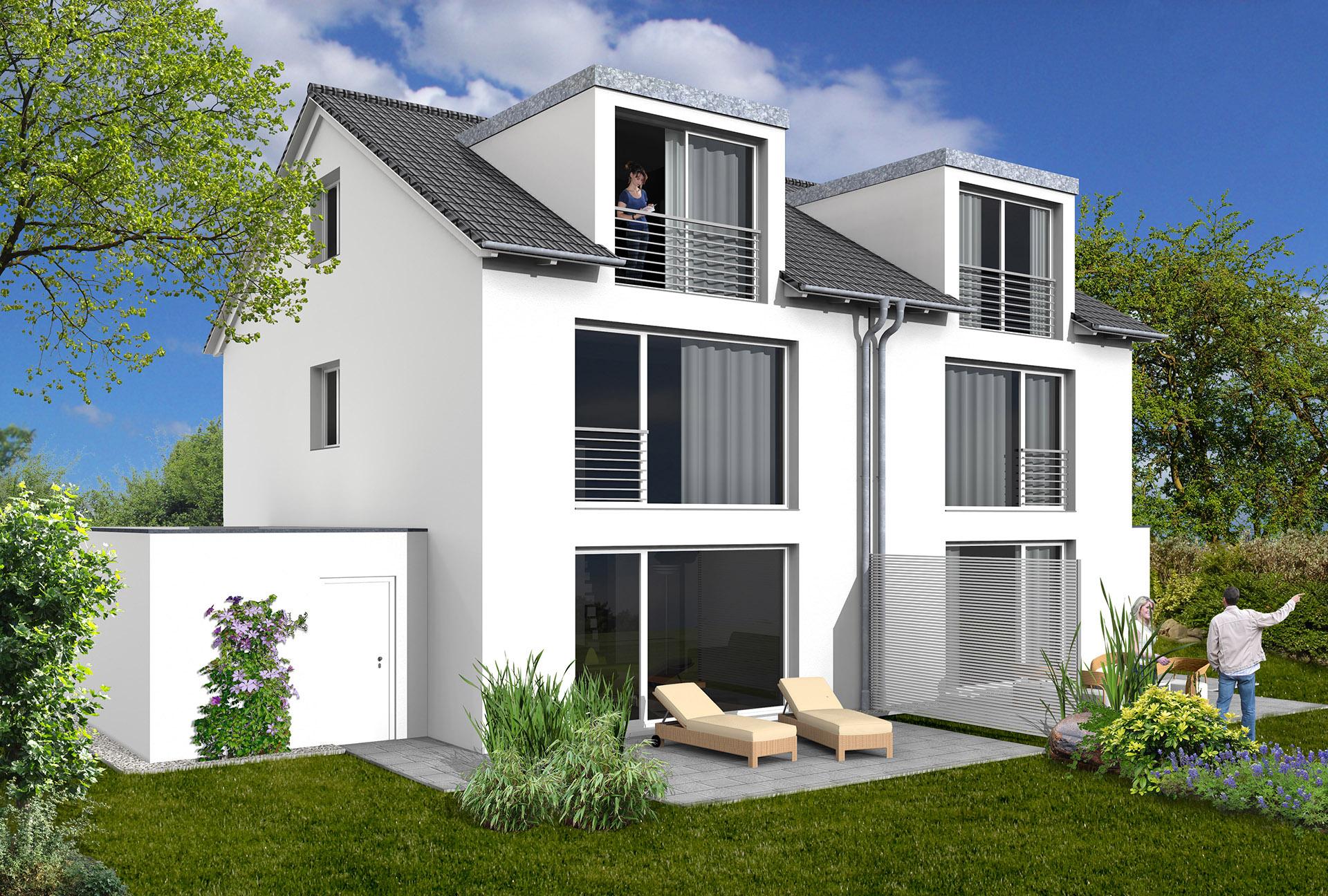 Verkaufsbeginn gleich zwei neue projekte wohnbau mz for Bilder doppelhaus